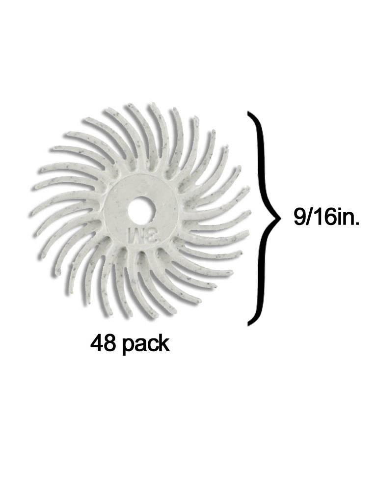 3M 3M Radial Bristle Disc 9/16'' White 120Grit (48 Pack)