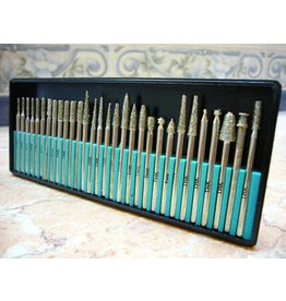 Just Sculpt 30pc Diamond Burr Set 1/8 Shank 40 Grit