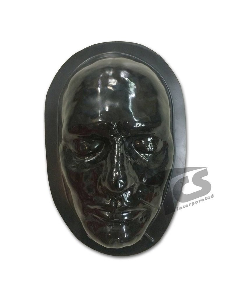 Just Sculpt Black Styrene Male Face Form For Prosthetics