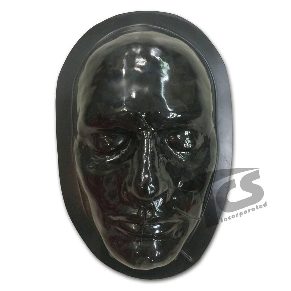 Just Sculpt Black Styrene Male Face Form For Prosthetics