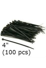 Cable Ties Black Nylon 4'' (100 pcs)