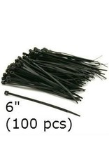 Just Sculpt Cable Ties Black Nylon 6'' (100 pcs)