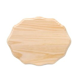 Wood Plaque - Fancy Oval - 9 x 12 inches