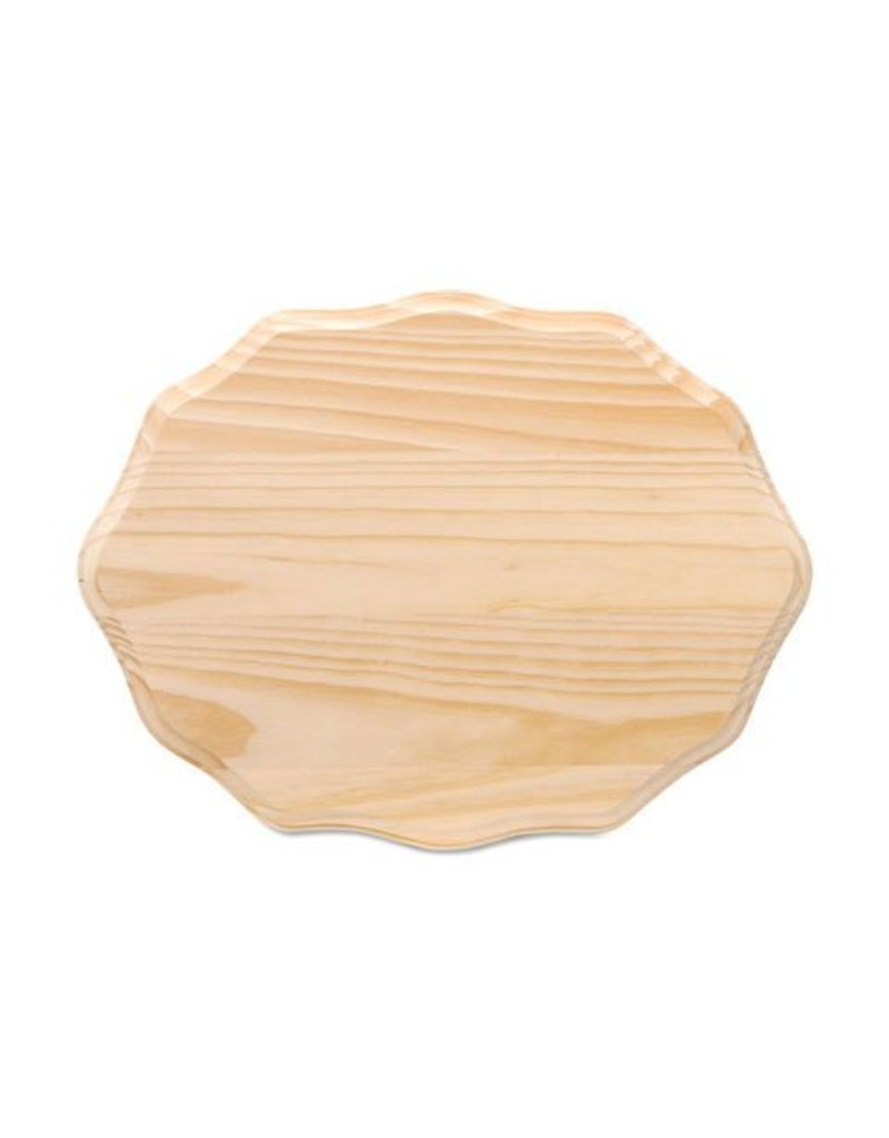 Wood Wood Plaque - Fancy Oval - 9 x 12 inches