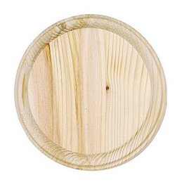 Just Sculpt Wood Plaque - Round - 7 inch diameter