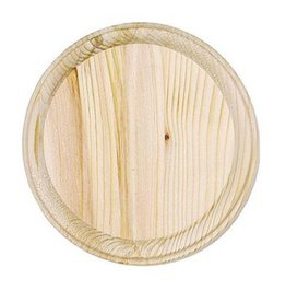 Just Sculpt Wood Plaque - Round - 4 inch diameter
