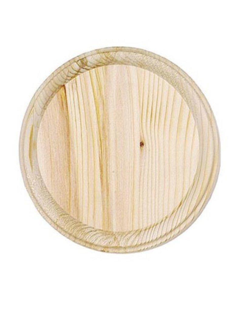 Wood Wood Plaque - Round - 4 inch diameter