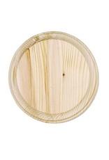 Just Sculpt Wood Plaque - Round - 5 inch diameter
