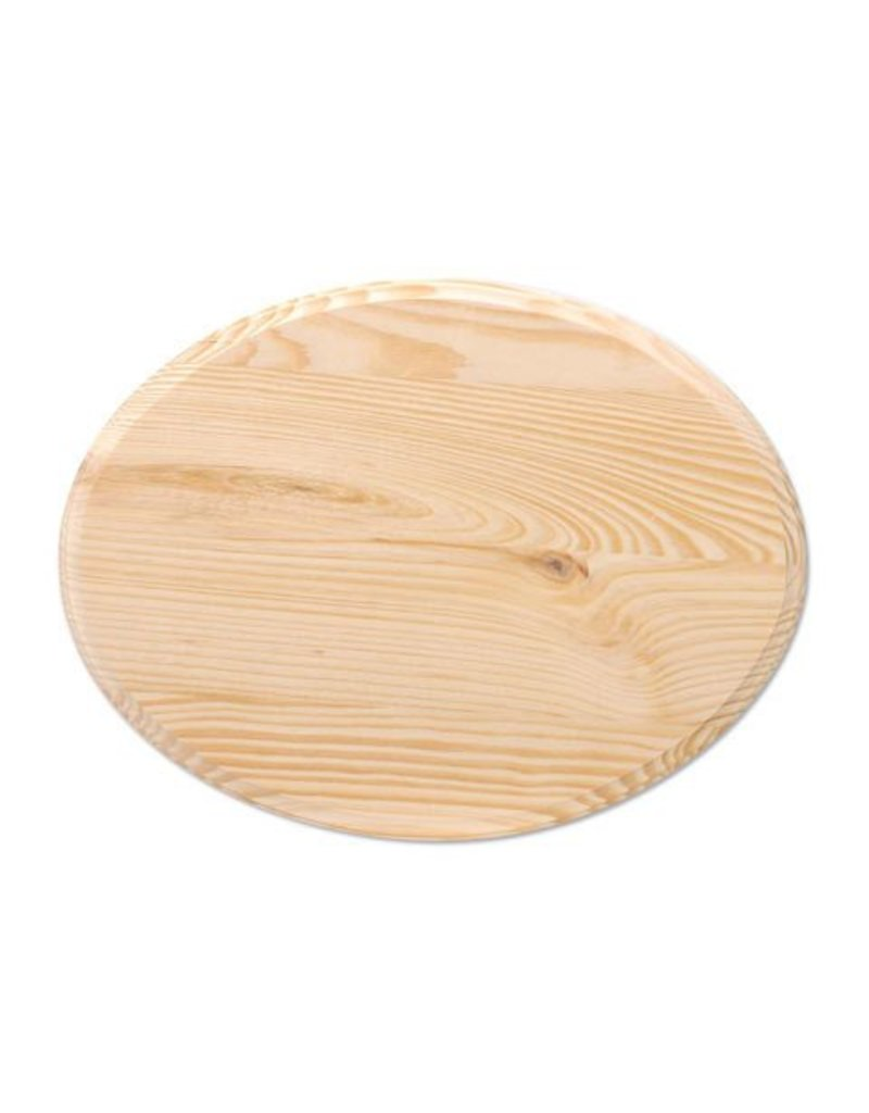 Wood Wood Plaque - Oval - 7 x 9 inches