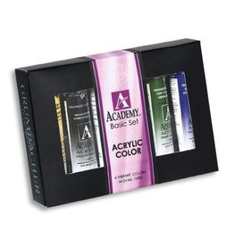 Grumbacher Grumbacher Basic 24 ml Academy Acrylic Paint 6 Color Set