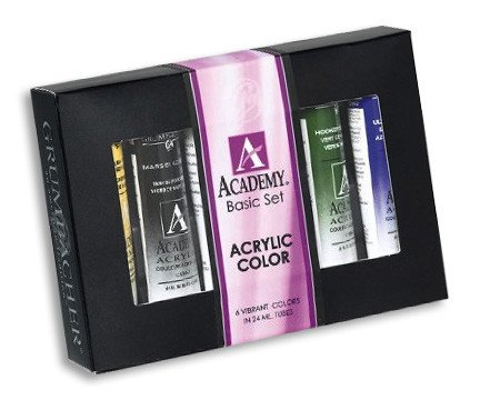 Grumbacher Basic 24 ml Academy Acrylic Paint 6 Color Set