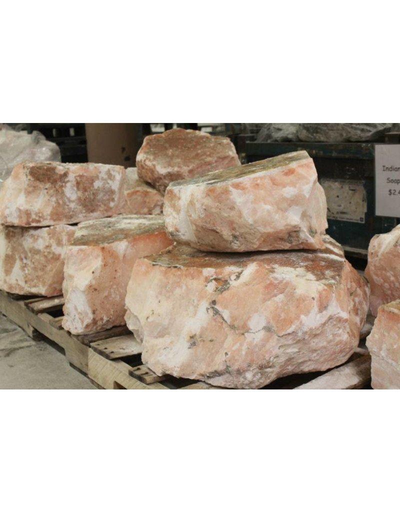 Stone Translucent Peach Alabaster per pound
