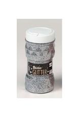 Darice Glitter Jar - Silver - 8 oz