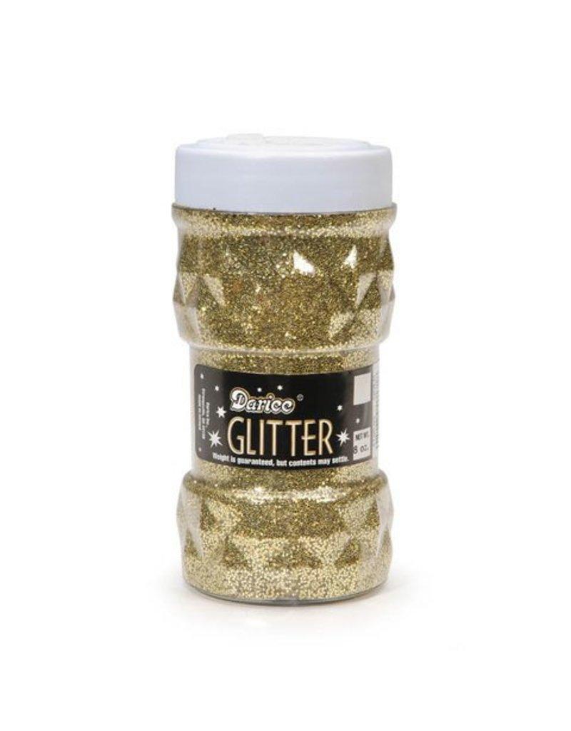 Darice Glitter Jar - Gold - 8oz