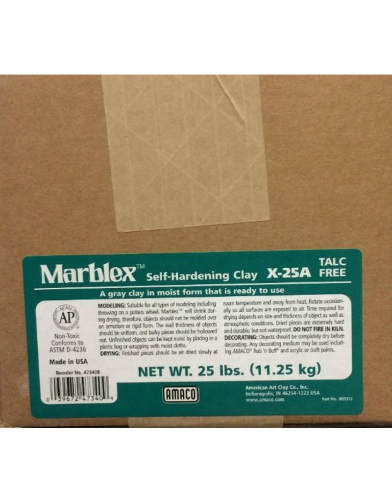 Amaco Marblex Self-Hardening Clay 25lbs