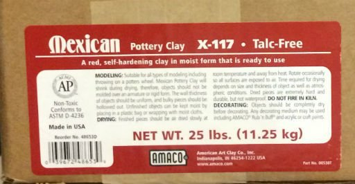 Amaco Mexican Pottery Self-Hardening Clay 25lbs
