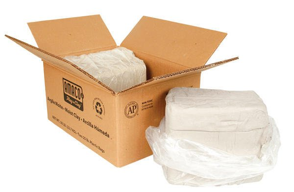 Amaco White Art Clay No.25 Moist 25lbs (Hugo Grey) (Cone 05 - 3)