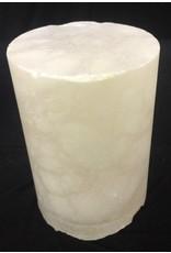"""Stone 2-7/8""""d x 4-1/4""""h White Alabaster Cylinder #221001"""