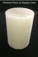 """Stone 2-7/8""""d x 4-3/4""""h White Alabaster Cylinder #221041"""