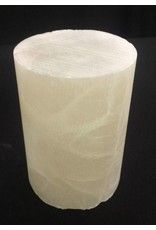 """Stone 2-7/8""""d x 3-1/2""""h White Alabaster Cylinder #221051"""