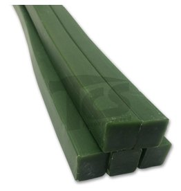Paramelt Wax Sprue Green Square Solid 1/2'' (5 Pieces)