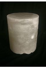"""Stone 4-3/8""""d x 4-1/2""""h White Alabaster Cylinder #221004"""