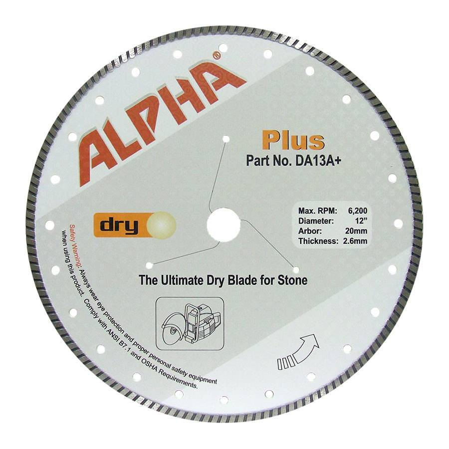 Alpha Plus Diamond Blade 12in