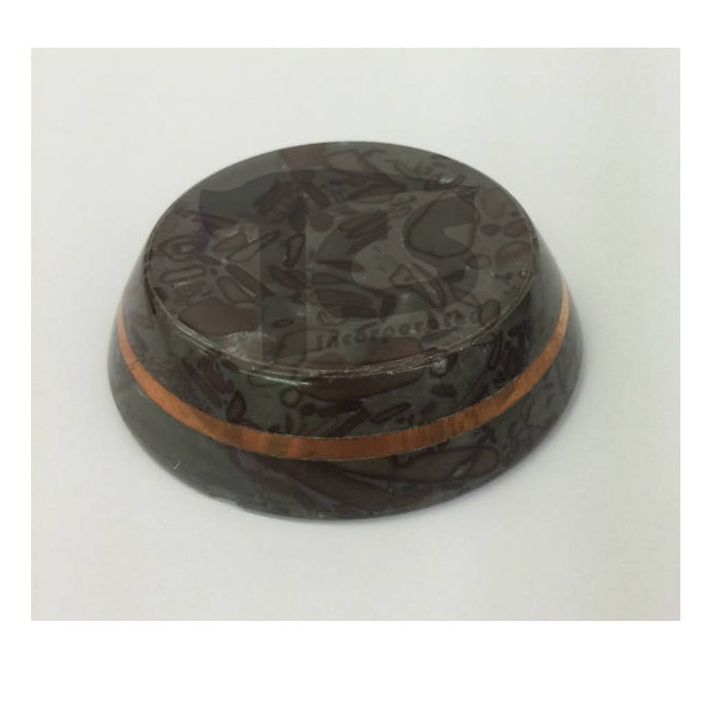 Varigated Stone Base 3in With Copper Band