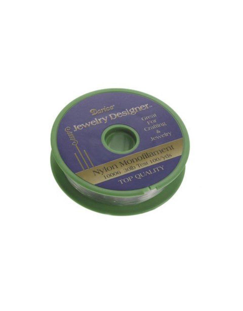 Darice Nylon Clear Monofilament 30 pound 100 yds