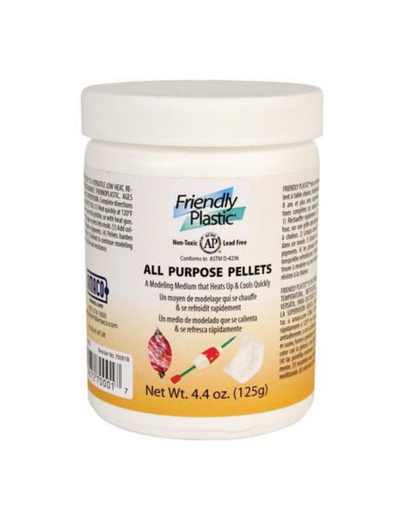 Amaco Friendly Plastic Ivory Pellets 4.4oz
