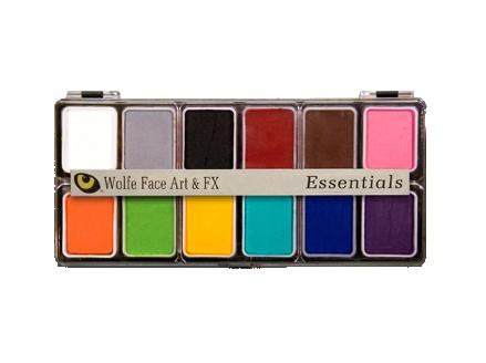 Wolfe Face Art & FX Hydrocolor Essentials 12 Color Palette