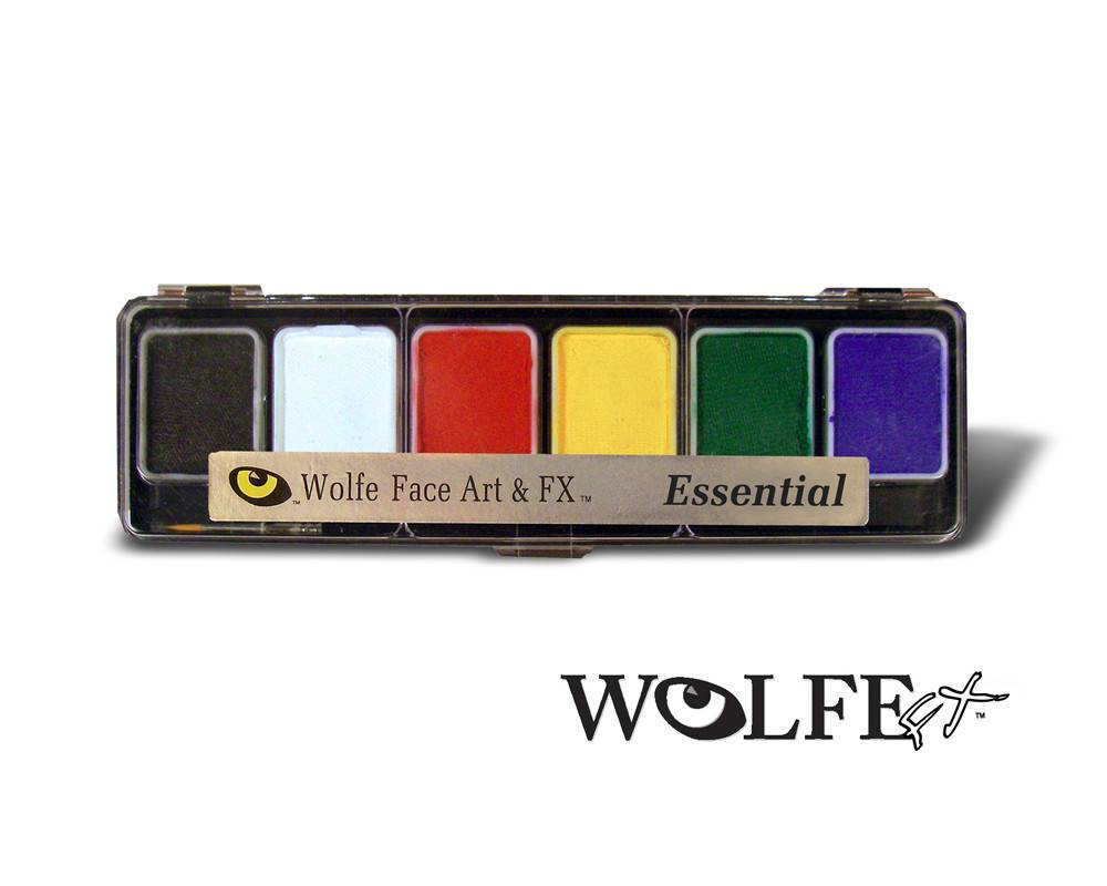 Wolfe Face Art & FX Hydrocolor Essentials 6 Color Palette