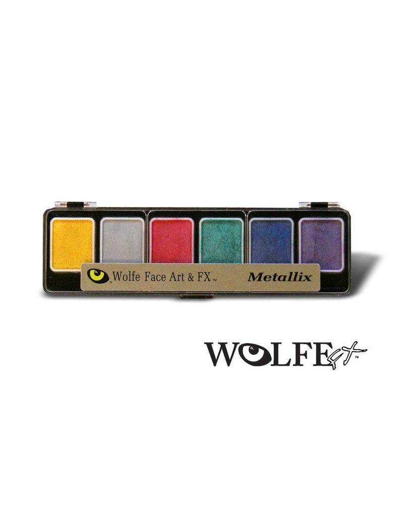 Wolfe Face Art & FX Hydrocolor Metallix 6 Color Palette