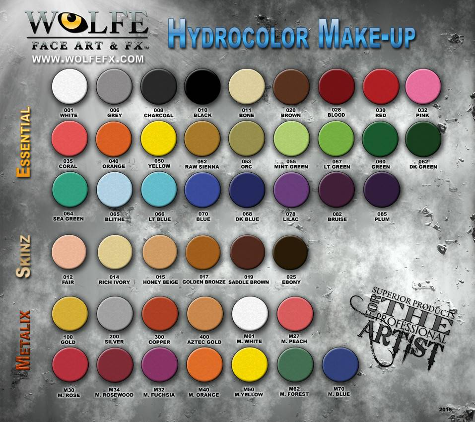 Wolfe Face Art & FX Hydrocolor Monster 6 Color Palette