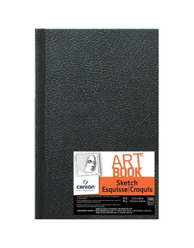 Black Sketch Book - Hardcover - 5.5 x 8 inches - 65 lb Weight - 216 sheets