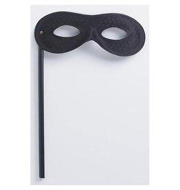 Darice Mask on a Stick - Black Satin