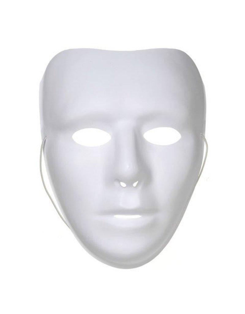 Darice Plastic 3/4 Face Mask - White