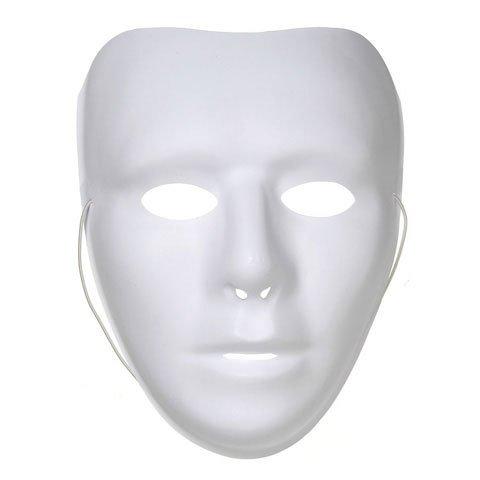 Plastic 3/4 Face Mask - White