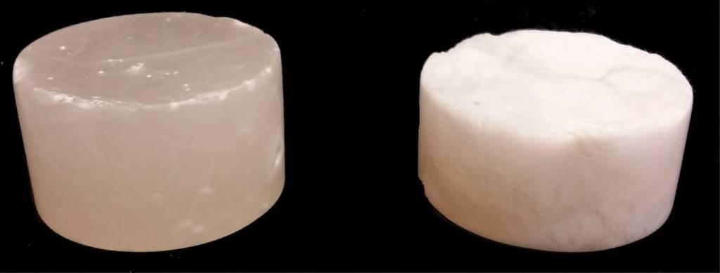 """Stone 4-3/4""""d x 2-1/2""""h White Alabaster Cylinder #221008"""