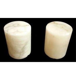 """Stone 4-3/4""""d x 6""""h White Alabaster Cylinder #221010"""