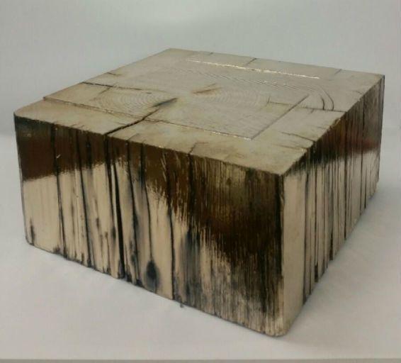 Chrome Wood Base Gold 11x11x5.5