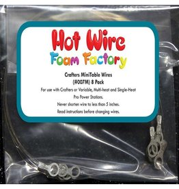 Hot Wire Foam Factory Mini Scroll Table Replacement Blades (8-pack) #007M