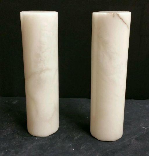 """Stone 2-7/8""""d x 9-1/2""""h White Alabaster Cylinder #221020"""