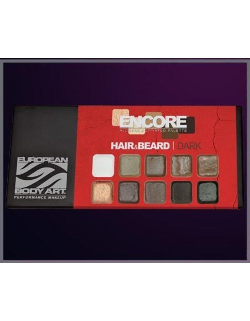 European Body Art Encore Hair & Beard Palette - Dark