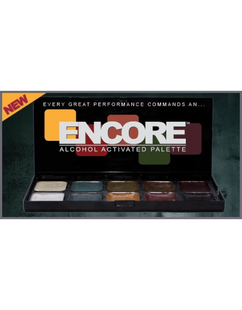 European Body Art Encore Hair & Beard Palette - Light to Dark