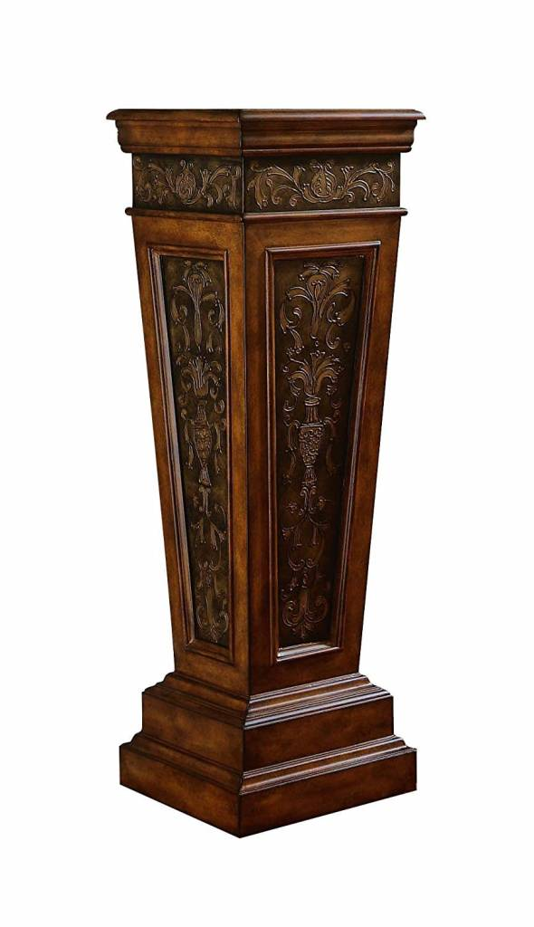 Wooden Ornate Pedestal 14X14X43