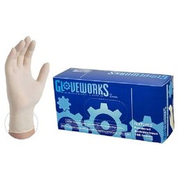 Latex Ivory Industrial Powdered Gloves Box