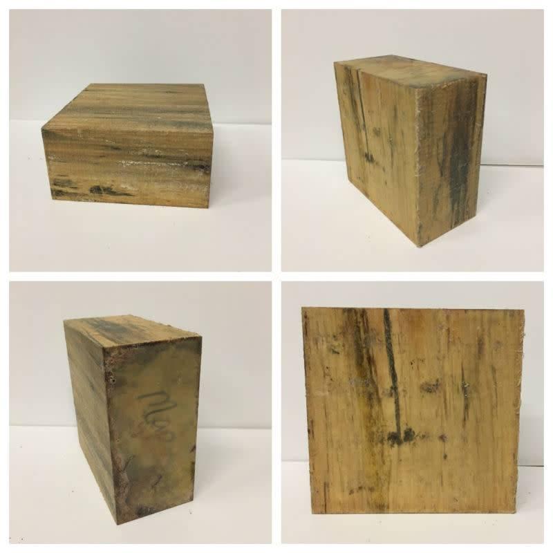 Wood Ambrosia Maple Block 6x6x3