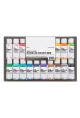 Acrylic Paint Set Satin 2oz 16pc