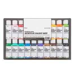 Darice Acrylic Paint Set Satin 2oz 16pc